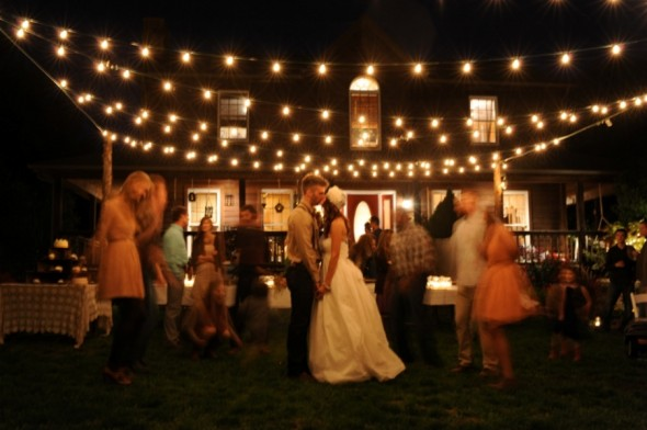 String Lights Hire : Vintage style Festoon Lights - Budget Marquee Hire