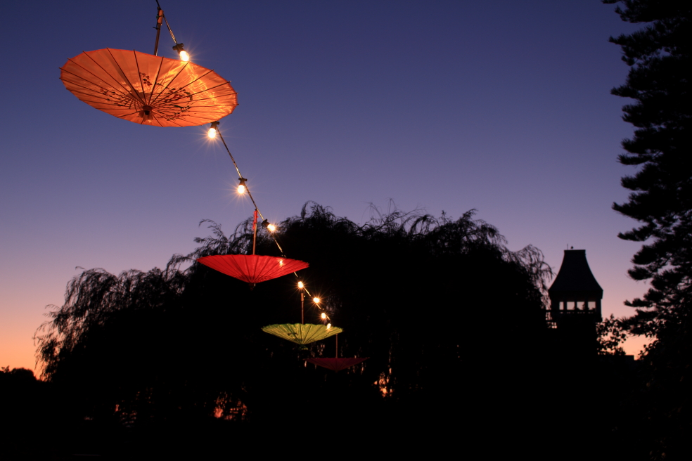 Umbrella outdoor lights budget marquee hire asian style umbrella lights mozeypictures Image collections