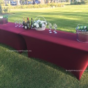 Trestle Tables decorated