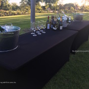 Trestle Tables decorated booze