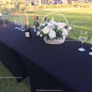 Trestle Tables decorated wedding