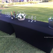 Trestle Tables decorated on grass