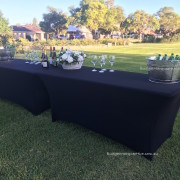 Trestle Tables decorated in park