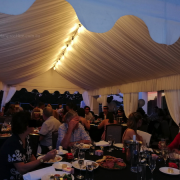 Wedding dinner lining drapes marquee 4x8