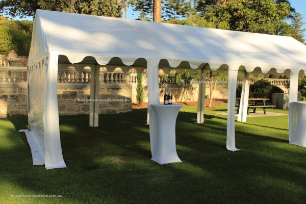 Marquee 4×8 open sides