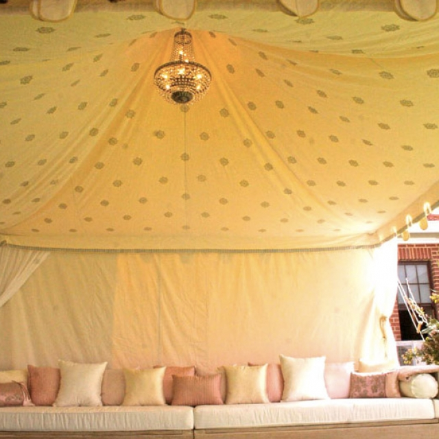 Indian wedding marquee 3mx3m inside